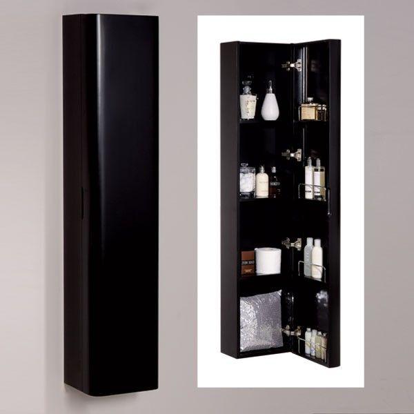 onyx black wall mounted bathroom cabinet storage unit cupboard in home furniture u0026 diy furniture cabinets u0026 cupboards