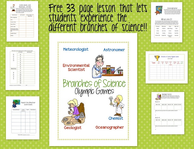 A FREE 33 page interactive lesson to use when teaching your students about the different types of scientists....They will learn about meteorologists, chemists, oceanographers, environmental scientists, astronomers, and geologists.