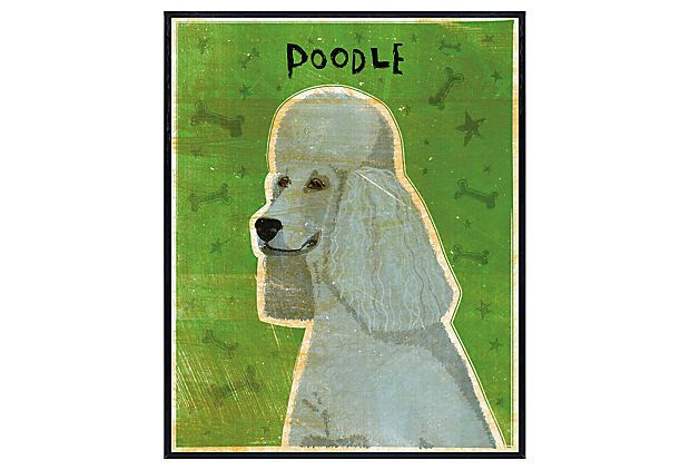Gray Poodle Art Block on OneKingsLane.com