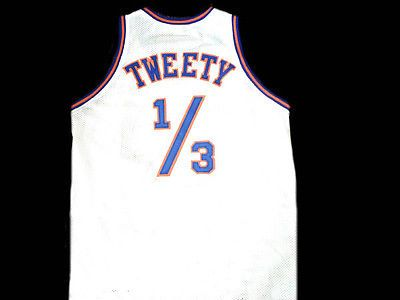 TWEETY-BIRD-1-3-TUNE-SQUAD-SPACE-JAM-MOVIE-JERSEY-WHITE-ALL-SIZES