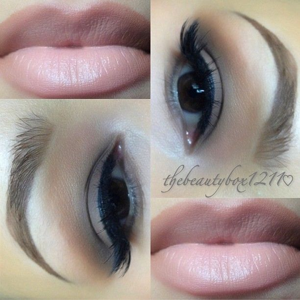 Naked Basics palette tutorial- love the lip colour- mac stripdown pencil and mac myth in centre apparently