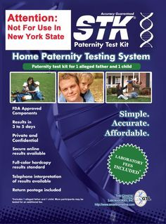 STK Paternity Test Kit - Includes All Lab Fees.  Buy STK Paternity Test Kit – Includes All Lab Fees on ✓ FREE SHIPPING on qualified orders   Read the rest of this entry » http://bestpregnancysites.com/stk-paternity-test-kit-includes-all-lab-fees/