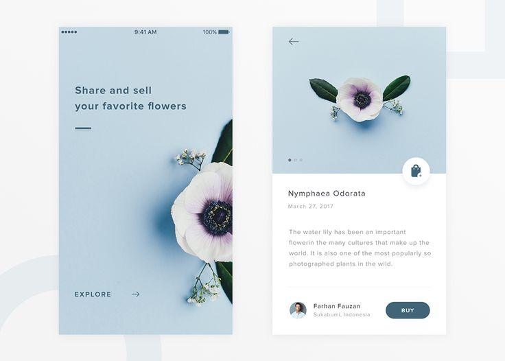Flowers App Design Concept