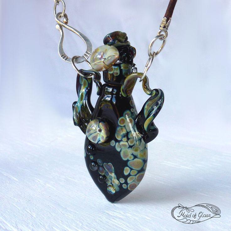 handmade #LampworkGlass #BottleNecklace by MaidofGlass.co.uk