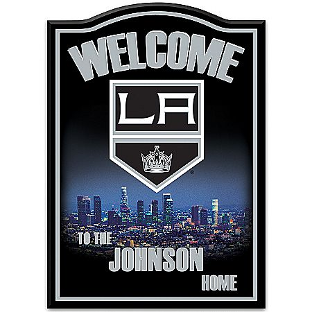 NHL® Los Angeles Kings® Personalized Welcome Sign Wall Decor