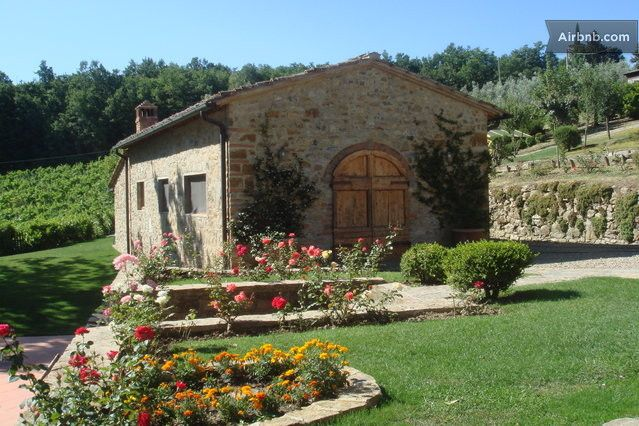 The barn – neighboring the main house has been decorated in classic Tuscan style…