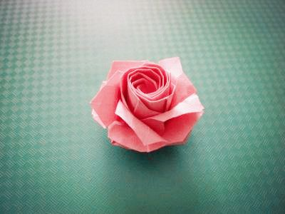 Origami Roses Kawasaki Rose folding graphic tutorial taught you how to make origami roses