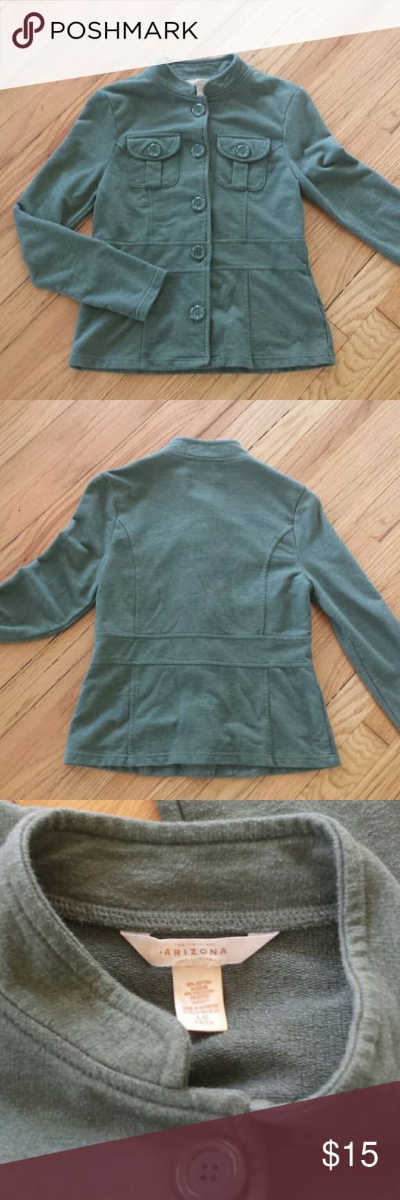 Arizona Jean Company  Military Style Jacket Super cute and stylish Arizona Jean Company  Military Style Jacket.  Perfect for Fall school days.  Made from 60% Cotton & 40% Polyester.  EXCELLENT CONDITION!  This is a girls size 14/16 Arizona Jean Company Jackets & Coats Blazers