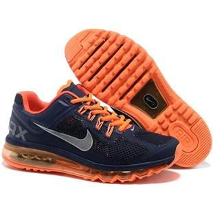 http://www.asneakers4u.com/ NIKE AIR MAX 2013 cheap mens running shoes blue orange Sale Price: $69.60