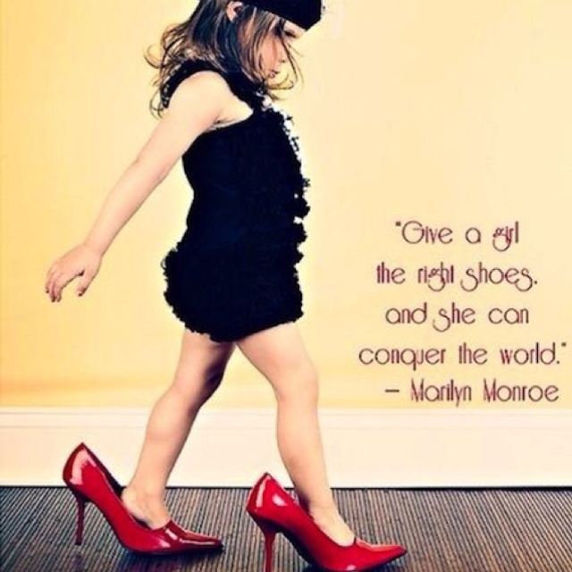 Little Girls, Marilyn Monroe, Quotes, Red Shoes, Marilynmonroe, So True, Baby Girls, High Heels, Baby Boutique