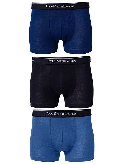3 Packs Pouch Trunks - Polo Ralph Lauren Underwear - Denim Blå - Boxershorts - Underkläder - Man - NlyMan.com