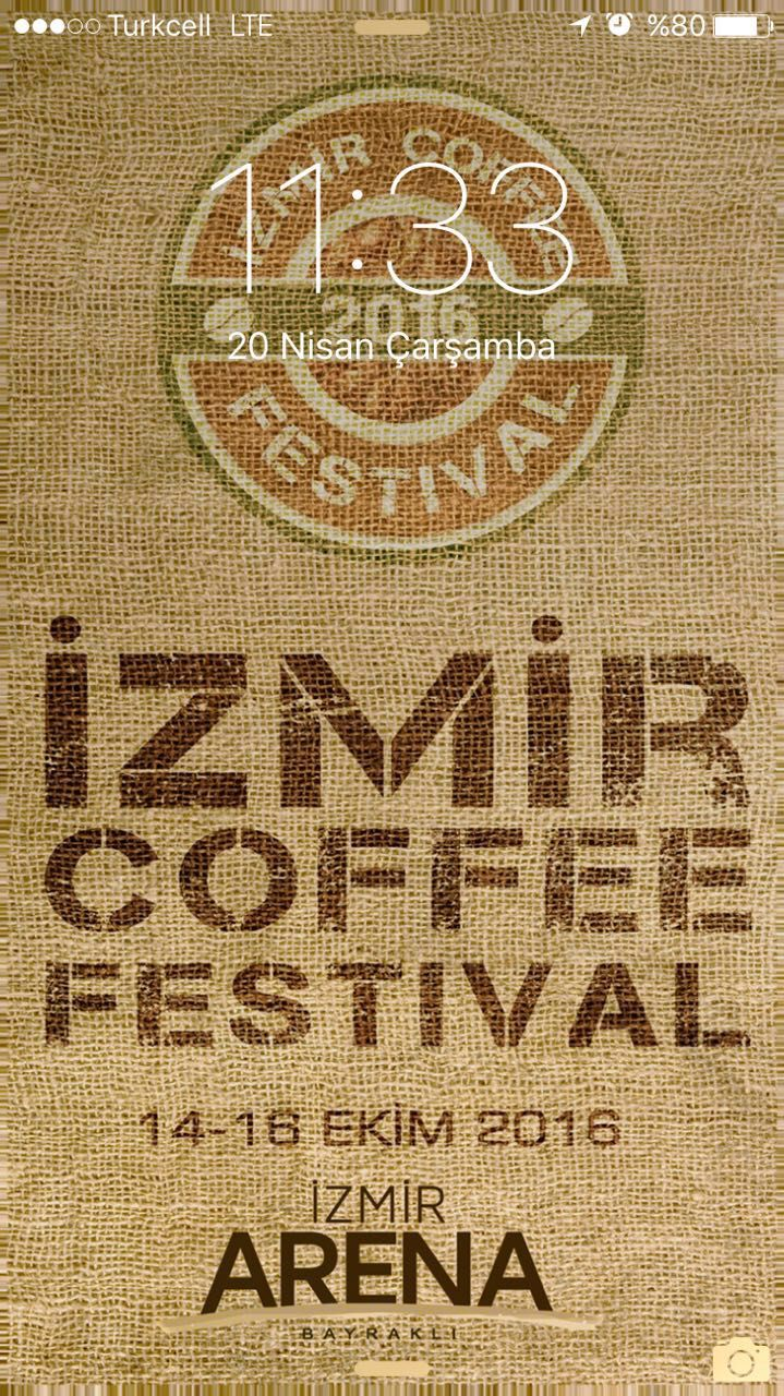 Sea smell and coffee smell will be together. We are waiting you in Izmir...for the Coffee Festival.