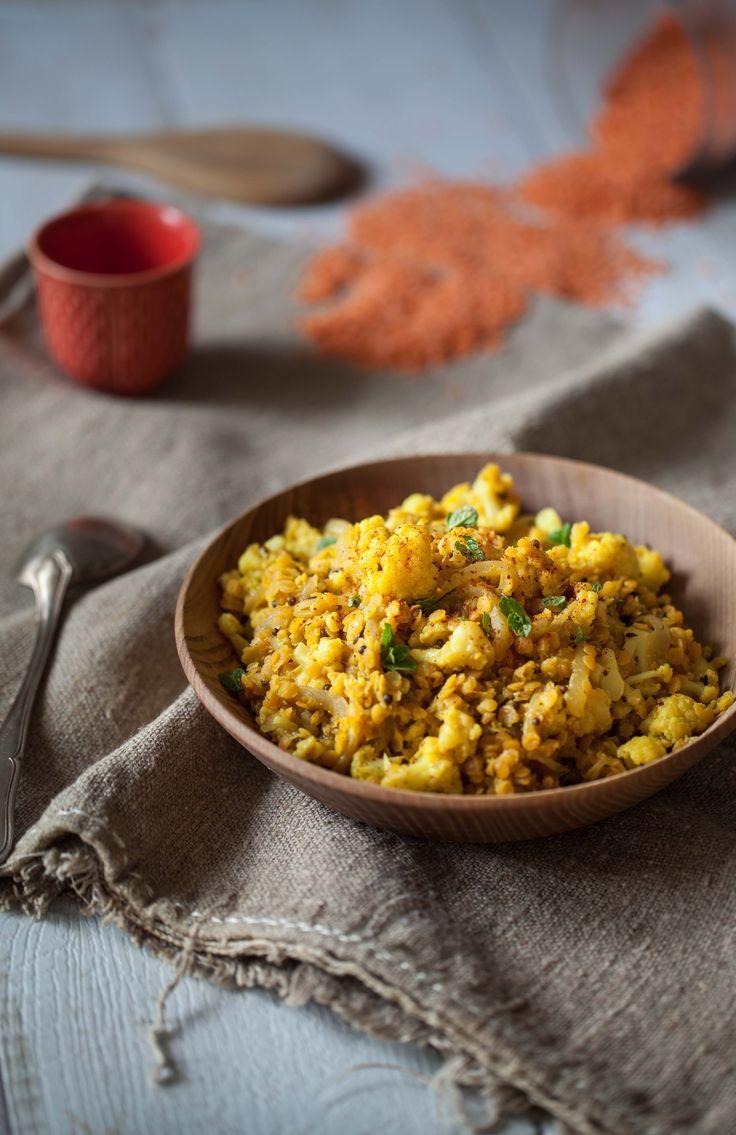 17 Et hop, un chou fleur, deux recettes! une recette très » je partage mon déjeuner avec toi»: ce curry de lentilles corail et chou fleur, et une plus «huppée&nb…