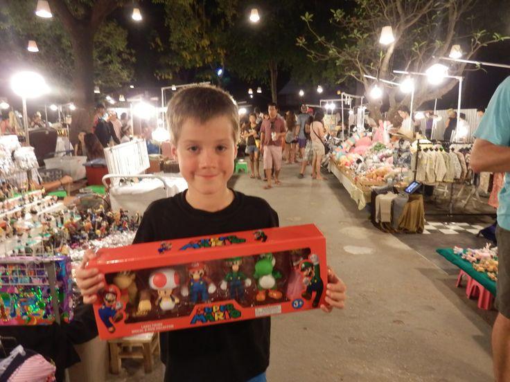 Kids loved Cicada Market in Hua Hin, Thailand