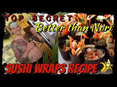 """TRA """"Better than Nori"""" Raw Vegan Sushi Wraps Recipe """"With all the concern over the toxicity of seaweed since the nuclear disaster at Fukushima as well as the debate over Nori being Vegan I decided to leak my Fully Raw Vegan """"Better than Nori"""" sushi wrap"""""""