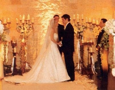 Jessica Simpson And Nick Lachey Simpsons Wedding Photograph