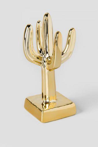 Gold Cactus Ring Holder