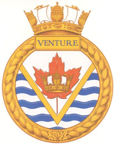 HMCS VENTURE Badge - The Canadian Navy - ReadyAyeReady.com