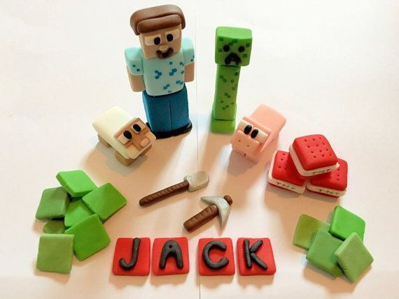 Minecraft comestible de gâteau ensemble (non officiel)