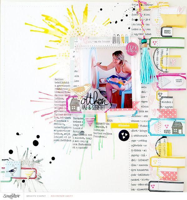 Otthon - scrapbook layout + videó
