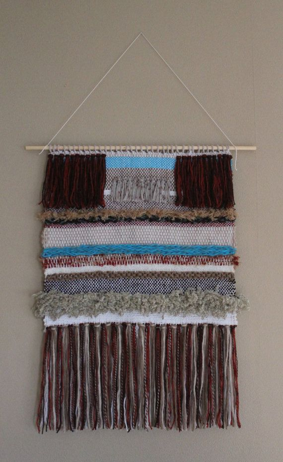 Woven Wall Hanging 6 by nimwitstudio on Etsy