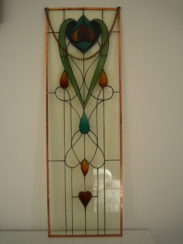 Glorious Decorative Hand Painted Glass Panels, 'Art Nouveau Style. Stained Glass | eBay
