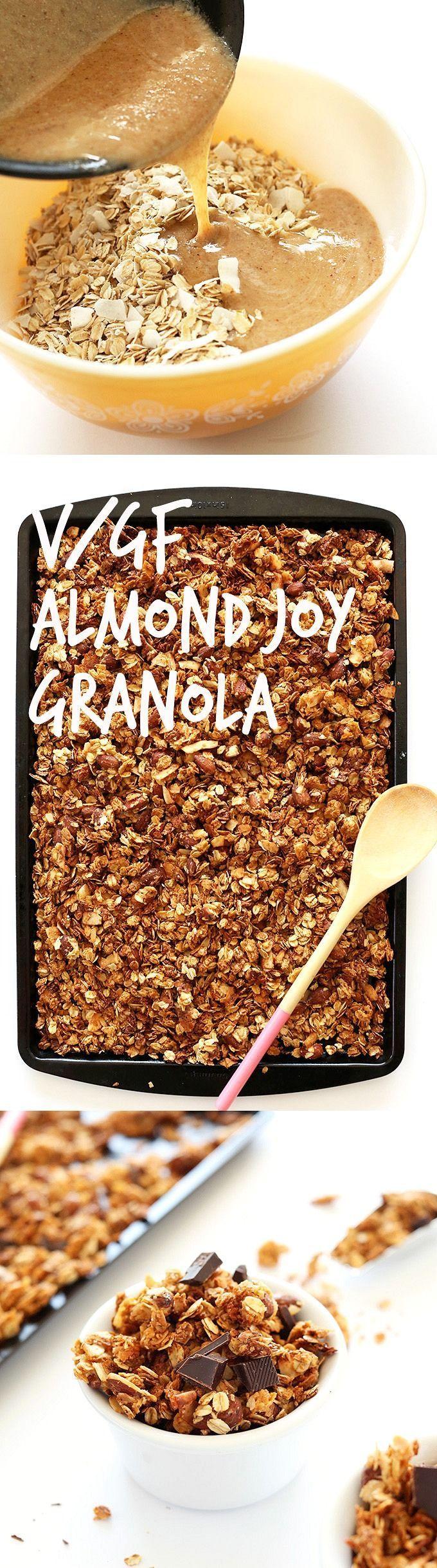 SALTY-SWEET and HEALTHY Almond Joy Granola! 9 ingredients, 30 minutes #vegan #glutenfree