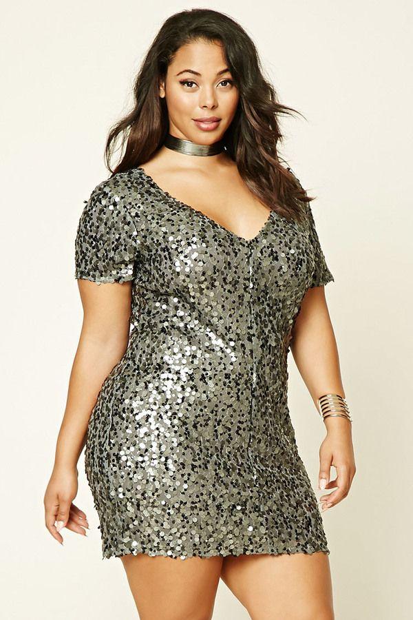 FOREVER 21+ Plus Size Sequin Shift Dress