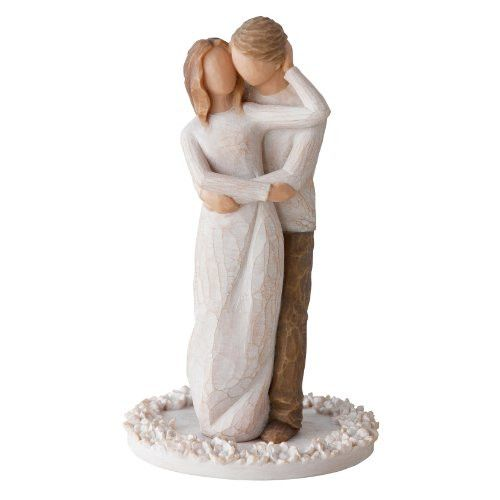 Item Number: 27162 Dimensions: 3.50 x 3.50 x 6.00 inches Together...True partners in love and life. Willow Tree cake toppers are a commemorative keepsake for weddings and anniversaries, or any celebra