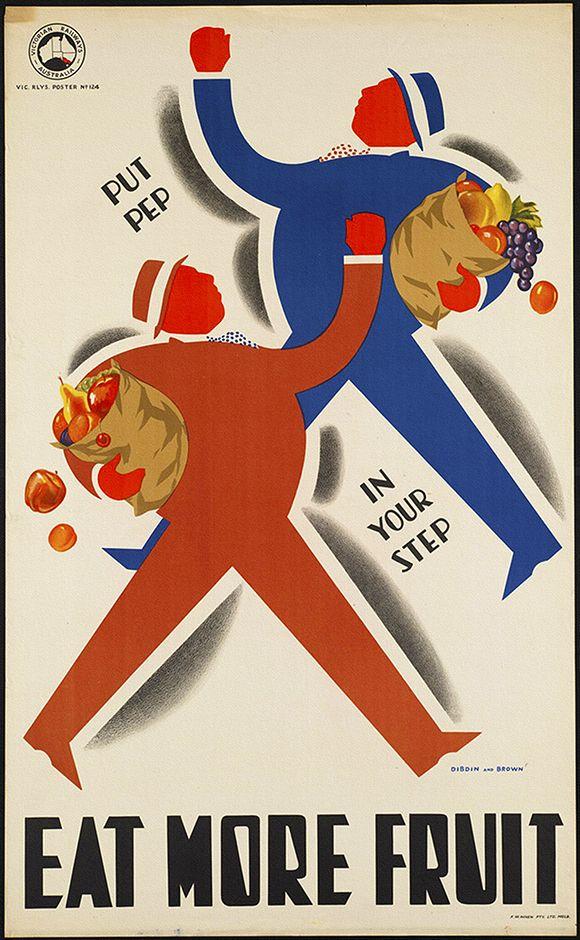 Eat More Fruit - Food Vintage Poster