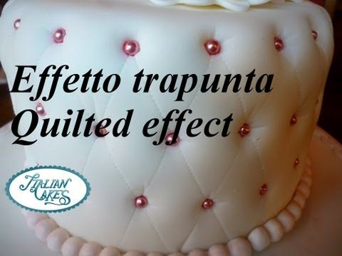 Torta decorata effetto trapuntato (Quilted effect cake) by ItalianCakes - YouTube