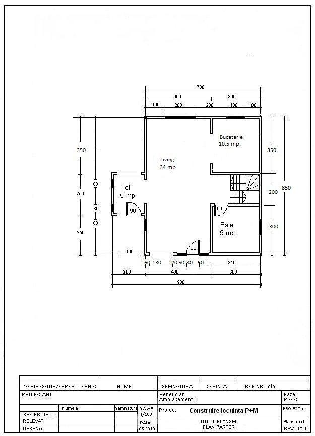 """Casa lemn """"varianta 3"""" - Case din lemn ieftine, cu structură uşoară sau din lemn masiv, proiecte casă"""
