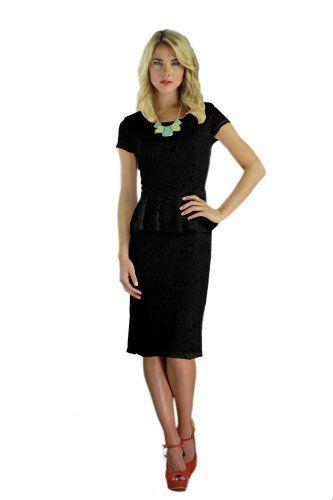 Mikarose Women's Knee-Length Peplum Short Sleeve Sabrina Summer Dress