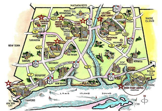 UConn Campus Map  WORK STUFF  Pinterest  Roads Campus