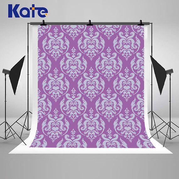 Purple Damask Patterns Photography Backdrops Newborn Baby