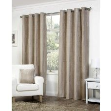 90x90in (228x228cm) Palma Floral Mink Brown Eyelet Curtains
