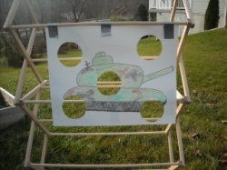 tank target practice, great game for army themed party!