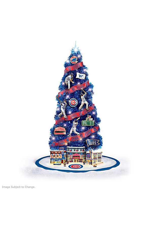Celebrate the Cubs World Series win with this Christmas tree collection.