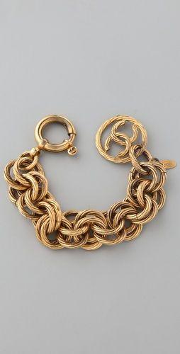 Vintage Chanel Circle Links Bracelet