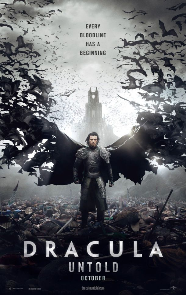 Dracula Untold - Luke Evans posiert in seiner Rolle als Blutsauger: Erste Poster - BlairWitch.de - Horror Movie Entertainment