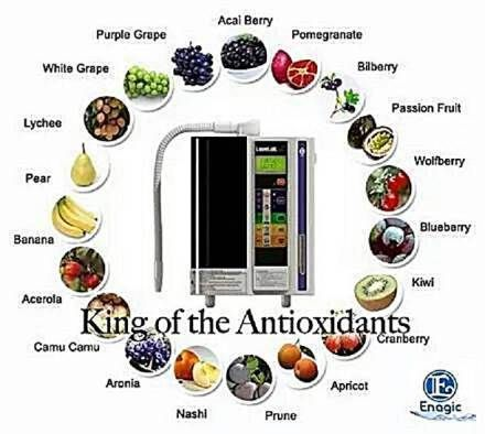 Free Radicals work to tear down the human body. Antioxidants work to eliminate Free Radicals. The ionization process of a Kangen Water Machine produces Antioxidants.  Buy a Kangen Water Ionizer: www.DianaHouk.com