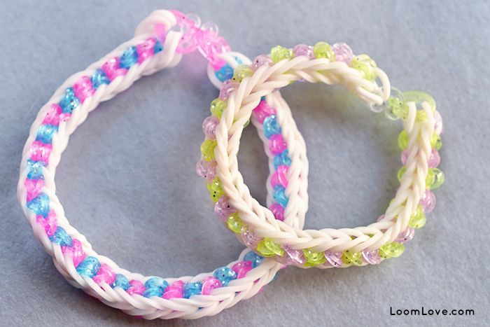 how to make loom band staff
