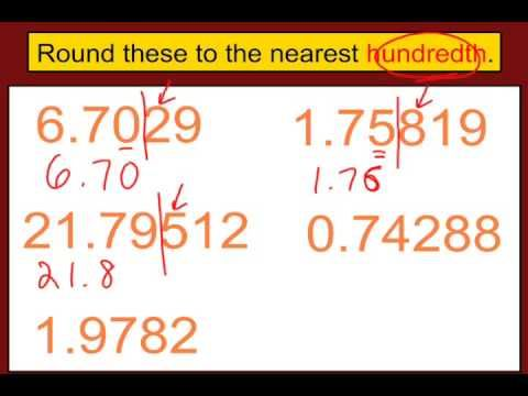 ▶ Rounding Decimals – YouTube…who's that knocking at my back door? five or more, raise the score!