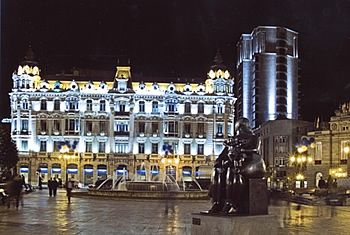 Plaza de la Escandalera. Oviedo. Asturias. Spain