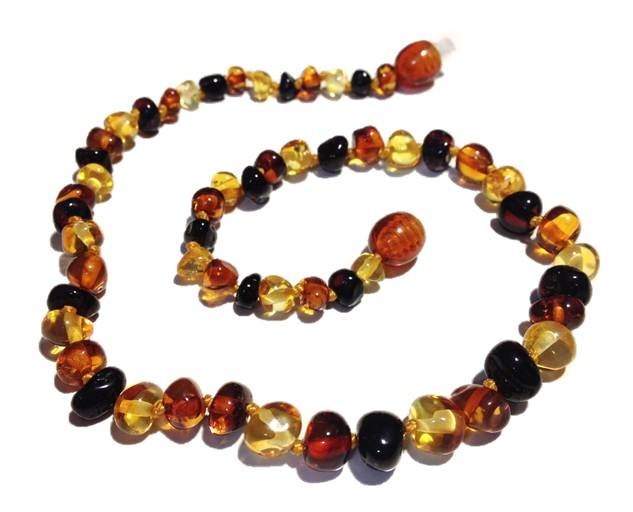 Genuine Baltic Amber Teething Necklace - Mixed Without White