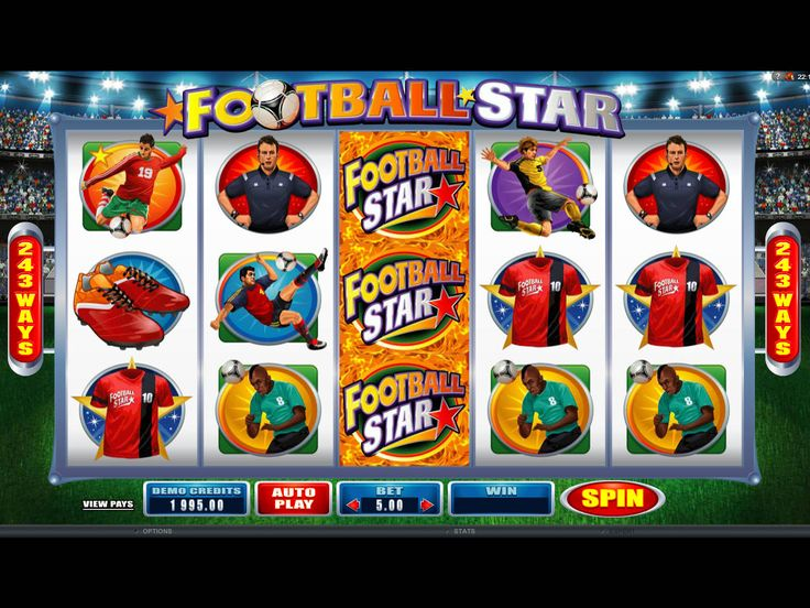 Football Star - http://freeslots77.com/football-star/ - Keep playing free Football Star slot as it can offer you a serendipity feel with 105,000 coins. This slot game from Microgaming is played on 5 reels and offers 243 ways to win. In this online slot machine, it is possible to make winning combinations as long as symbols are on adjacent reels from...