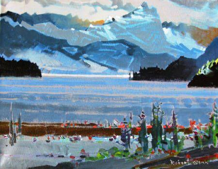 Lago Espejo In the Parque Nacional Nahuel, Huapi, Argentina by Robert Genn SFCA presented by Hambleton Galleries