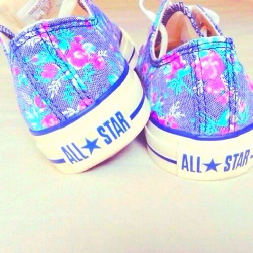 Neon flower all star converse