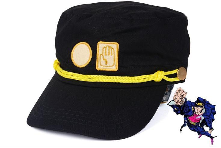 Hot 2016 new anime cartoon hat  Kujo Jotaro cosplay hat high quality new anime hat HT105