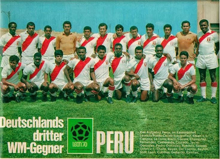 Peru team group for the 1970 World Cup Finals.